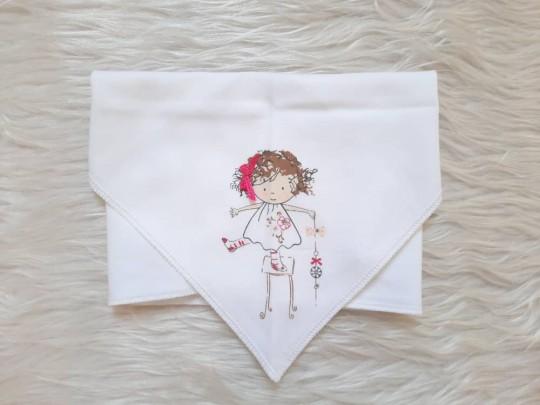 روسری طرح دخترک نیلی