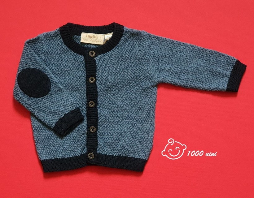سوییشرت بافت پسرانه سرمه ای لوپیلو
