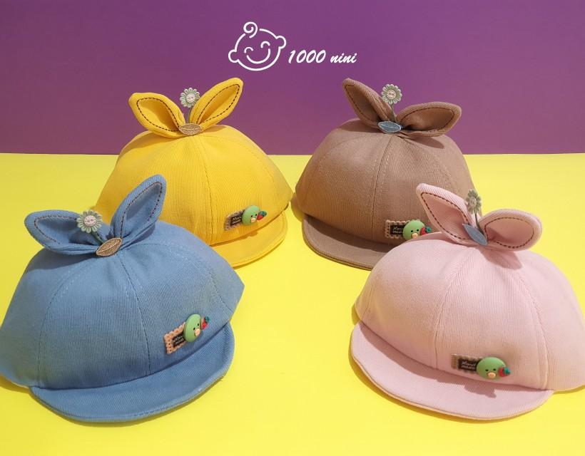 کلاه لبه دار طرح جوجه و گل