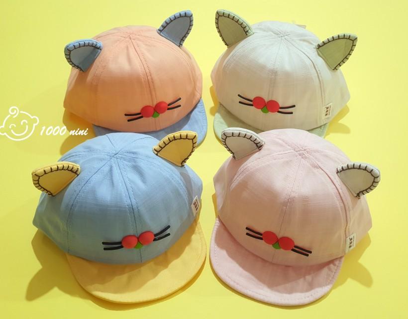 کلاه لبه دار طرح سیبیل گربه