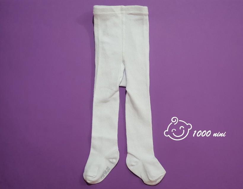 جوراب شلواری سفید پاپک