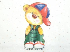 زیردکمه ای آستین کوتاه خرس کلاه دار لایت