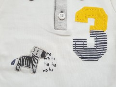 تی شرت آستین کوتاه طرح زبرا نیلی