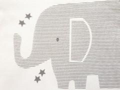ست 3 تکه طرح فیل راه راه مهتابیبی 3415