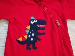 سرهمی دورس کلاهدار قرمز طرح دایناسور مهتابیبی
