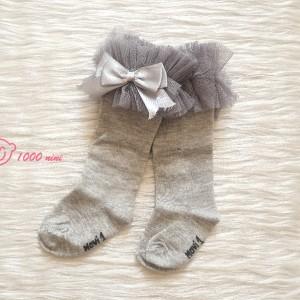 جوراب ساق بلند لب تور ماوی