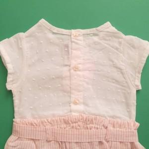 پیراهن دخترانه سفید صورتی ایندیگو 19706