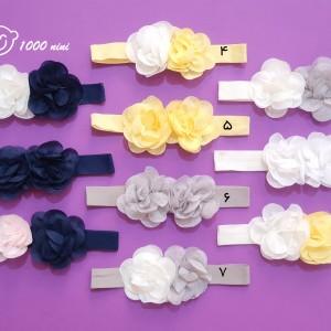 تل 2 گل پارچه ای ساده ماوی
