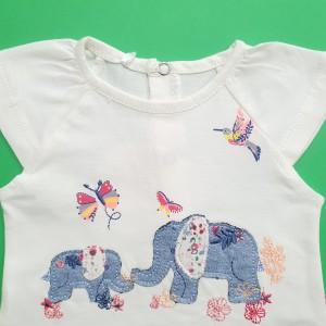 بلوز شلوارک گلدوزی فیل مهتابیبی 3567