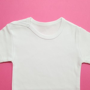 تیشرت آستین کوتاه سفید بیبی وان