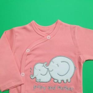 ست 3 تکه طرح فیل مادر صورتی گود مارک 3176