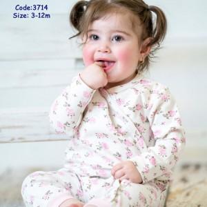 سرهمی دخترانه گل صورتی مهتابیبی 3714