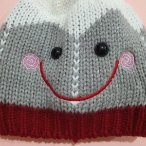 ست شال و کلاه طرح لبخند