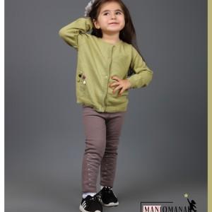 ژاکت بافت سبز