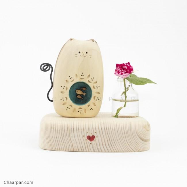 گلدان رو میزی گربه ماهی بدل
