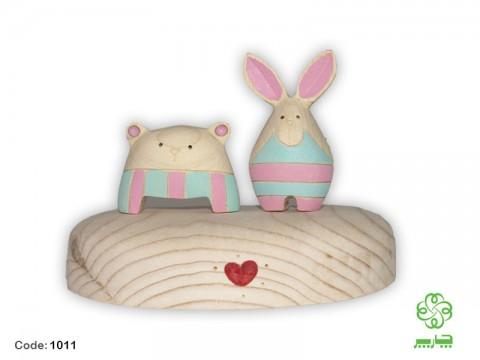 خرس و خرگوش بیژامه پوش رومیزی