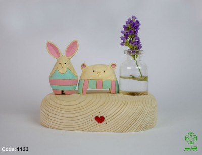 گلدان خرس و خرگوش
