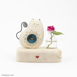 گلدان رو میزی گربه ماهی بدل | 1150
