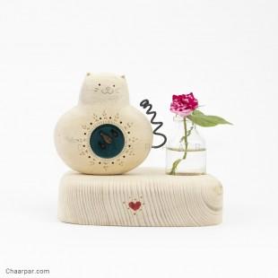گلدان رو میزی گربه ماهی بدل تکی