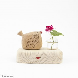 گلدان رو میزی پرنده تکی