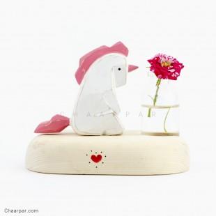 گلدان رو میزی اسب تک شاخ