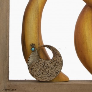 قاب گل لوتوس ایرانی جفتی| 1137
