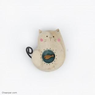 پیکسل گربه ماهی به دل