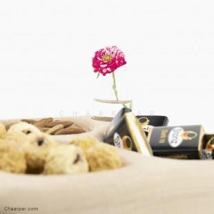 ظرف آجیل خوری سه تکه با گلدان بدون پرنده