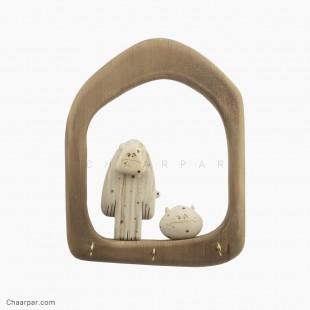 قاب جا کلیدی خالی (ویژه مجسمه جفتی بزرگ)و عروسک بزرگ