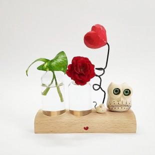 گلدان جغد و موش