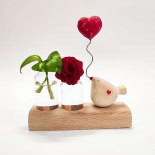 گلدان دوتایی پرنده لاولی