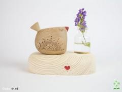 گلدان رو میزی پرنده