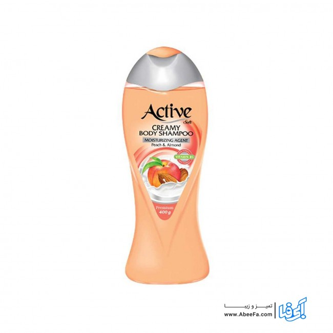 شامپو بدن کرمی اکتیو مدل Peach And Almond حجم 400 میلی لیتر