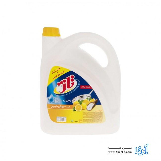 مایع ظرفشویی تاژ مدل Lemon and Soda حجم 3.75 لیتر