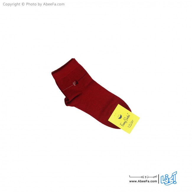 جوراب نیم ساق فانی مدل 817 قرمز
