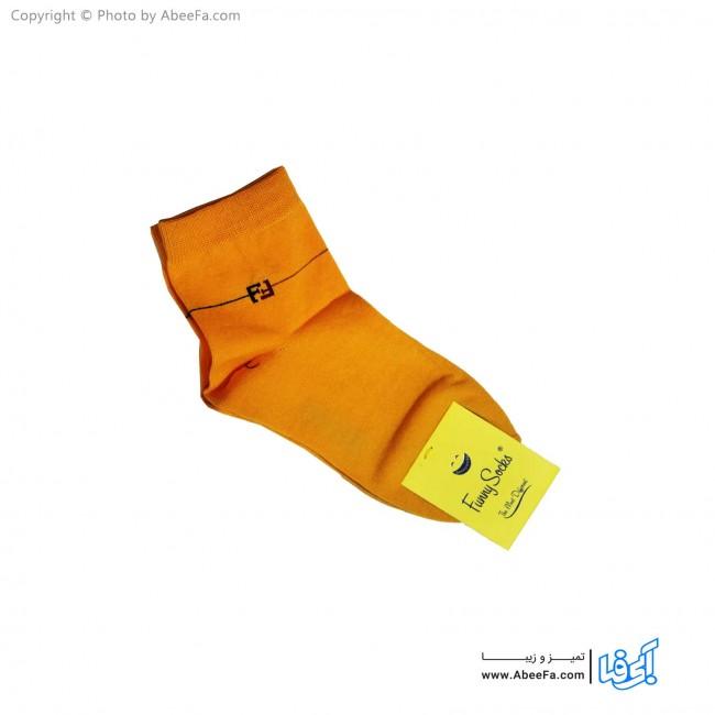 جوراب نیم ساق فانی مدل 817 پرتقالی