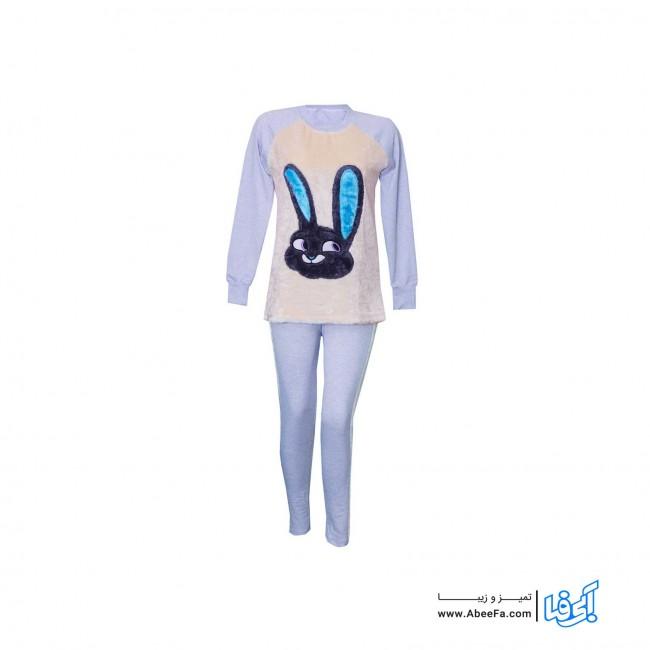 ست سویشرت و شلوار زنانه مدل خرگوش کد MA-NI.VA82070