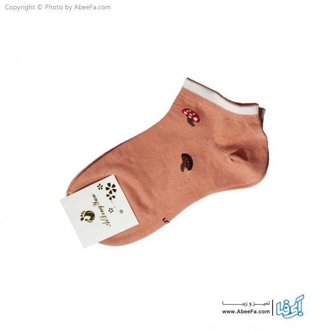 جوراب مچی زنانه مدل 1147 گلبهی