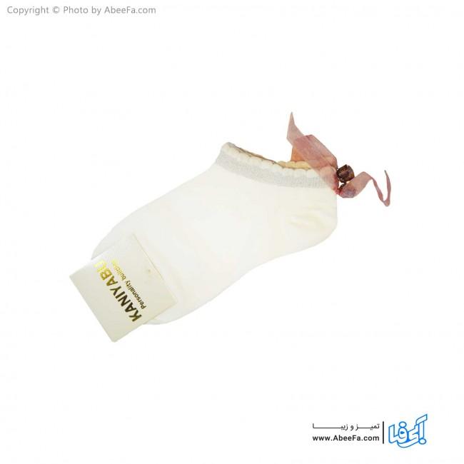 جوراب مچی زنانه کانی یابو مدل 2454 سفید
