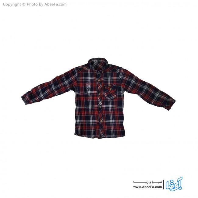 پیراهن پسرانه مدل NGN52Z زرشکی