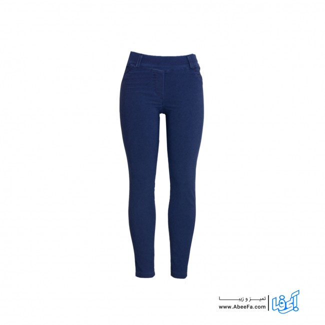شلوار جین زنانه مدل RZ-GH12065-TLI-ABI-BS رنگ آبی سایز بزرگ