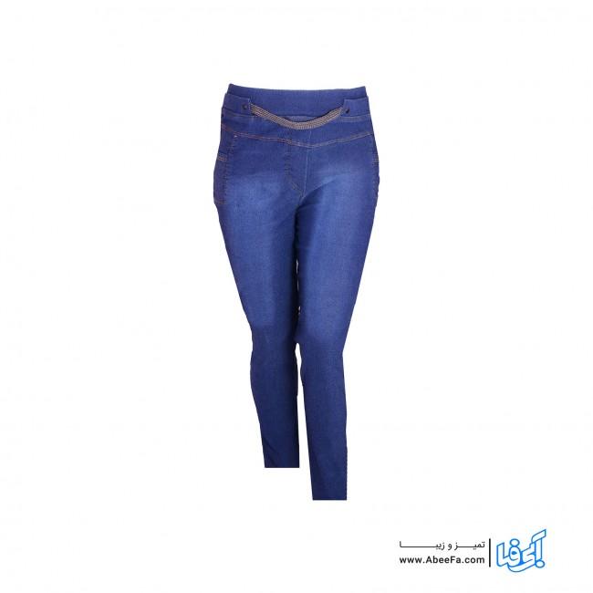 شلوار جین زنانه مدل NJ-MB82040-TLI-AB.T رنگ آبی تیره.