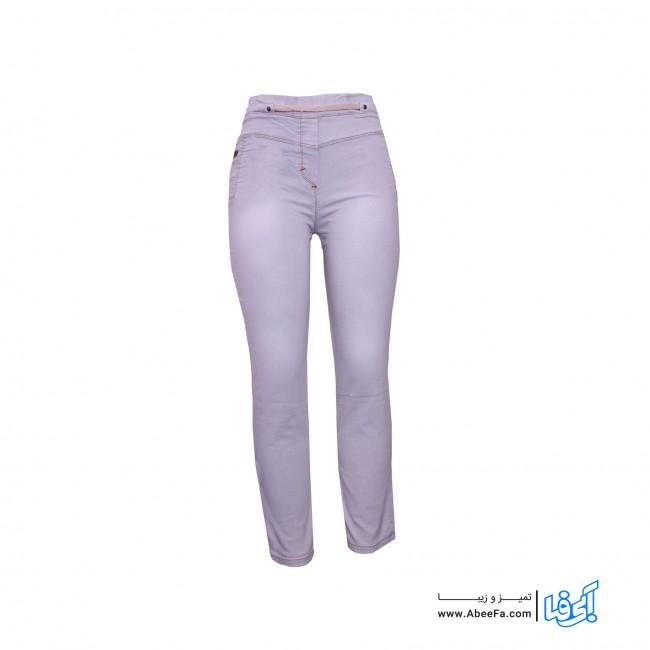 شلوار جین زنانه مدل NJ-MB82040-TLI-SE.CH رنگ طوسی روشن