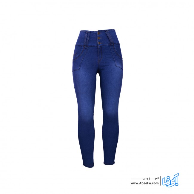 شلوار جین زنانه مدل RZ-GH82068-TLI-ABI.GEN رنگ آبی
