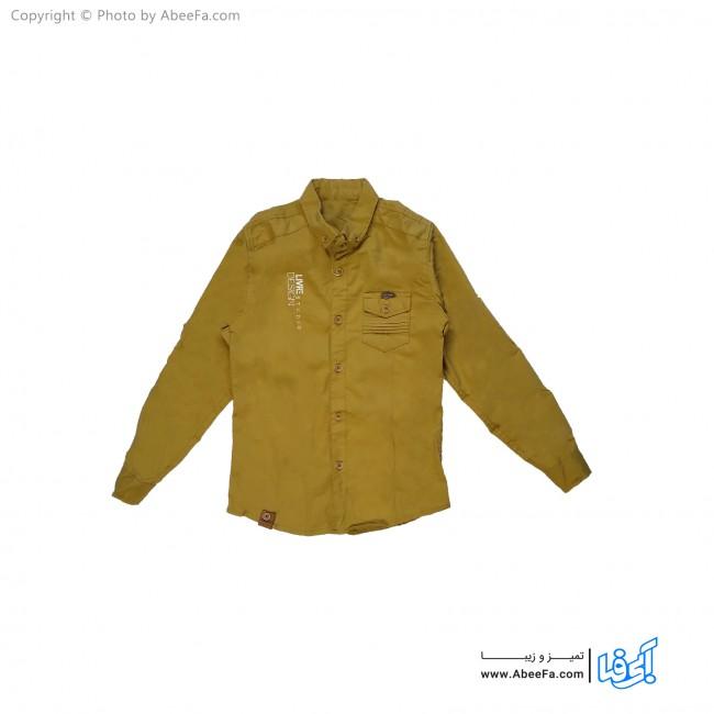 پیراهن کتان پسرانه مدل NGN51Y خردلی