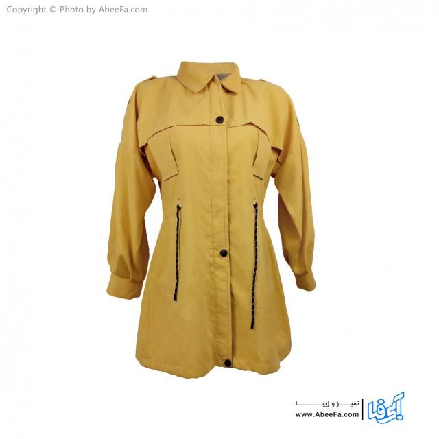 مانتو بهاره زنانه مدل MS64Y زرد
