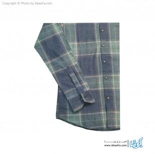 پیراهن مردانه پشمی مدل MCR6G یشمی زغالی