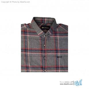پیراهن مردانه پشمی مدل MCR6T طوسی زغالی