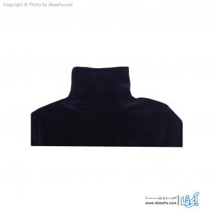 بلوز یقه اسکی مخمل کبریتی مدل OR21S سرمه ای