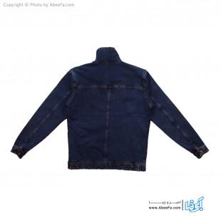 کت جین مردانه داخل خز مدل GL35 آبی تیره